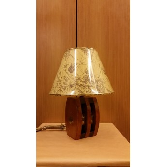 TABLE LAMP WITH WOODBLOCK