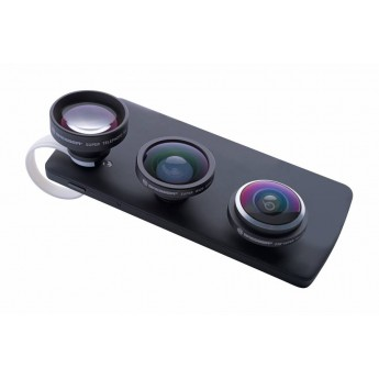 WIDE ANGLE LENS BRESSER CLIP-ON FOR SMARTPHONES 3 PCS SET