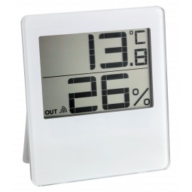 WIRELESS THERMO-HYGROMETER WHITE TFA CHILLY 30.3052.02
