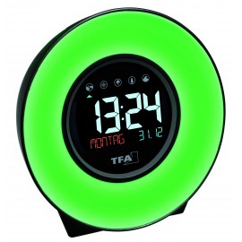 DIGITAL ALARM CLOCK WITH LIGH/ COLORED ROOM CLIMATE TFA 60.2023.02