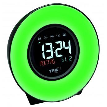 DIGITAL ALARM CLOCK WITH LIGH/ COLORED ROOM CLIMATE TFA 60.2023.02