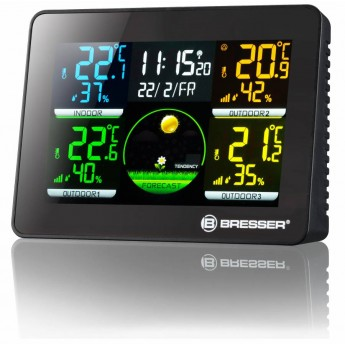 THERMO-HYGROMETER DIGITAL BRESSER QUADRO DLX 4 MEASURING POINTS
