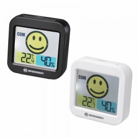 "THERMO-HYGROMETER W/ROOM CLIMATE INDICATOR BRESSER ""TEMEO SMILE"""