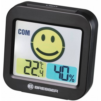 """THERMO-HYGROMETER W/ROOM CLIMATE INDICATOR BRESSER """"TEMEO SMILE"""""""