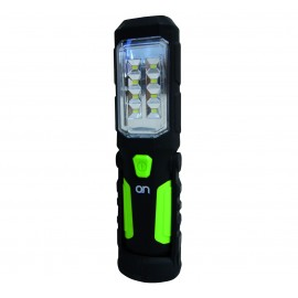 """WORKING LAMP """"ON"""" BLACK-GREEN BODY 1 LED 1W  / 8 SMD / 300LM"""