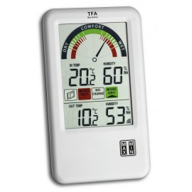 'Bel-Air' wireless thermo-hygrometer with ventilation tip TFA