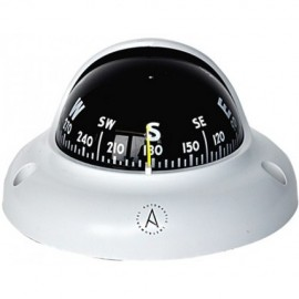 Surface Mount Compass, white, 65mm with light AUTONAUTIC