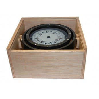Spare Magnetic Compass CLASS A 125mm in Wooden Box for Commercial Vessels AUTONAUTIC